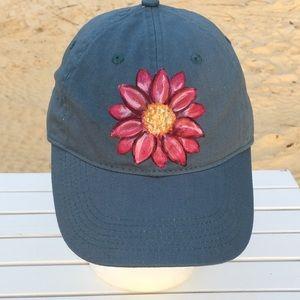 Women's Hat Authentic Pigment Cap with Daisy